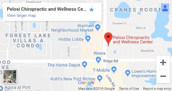 Map of New Port Richey Chiropractors